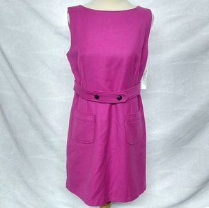 R.E.D Valentino Fuchsia Belted Dress.